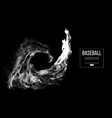 abstract silhouette a baseball player pitcher vector image vector image