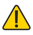 alert symbol isolated icon design vector image vector image