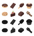 american cookies a piece of cake candy wafer vector image