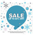 banner sale of 50 off last winter sale vector image vector image