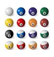 billiards balls vector image vector image