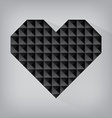 black retro heart triangle abstract love valentine vector image vector image