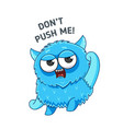 blue angry monster sticker vector image vector image