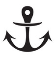boat archor icon simple style vector image vector image
