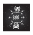 Boo - on chalkboard background vector image vector image