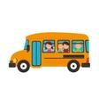 bus school transport icon vector image vector image