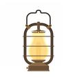 Camping Lantern or Gas Lamp vector image vector image