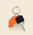 car key with keyholder rental car concept vector image vector image
