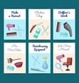 card or flyer templates set vector image vector image