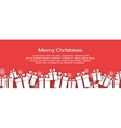 Christmas banner with gift boxes vector image vector image