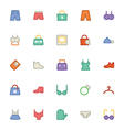 Clothes Icons 13 vector image