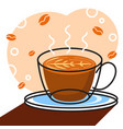 coffee with white background graphic for vector image vector image