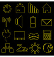 computer and laptop indication outline icons eps10 vector image vector image