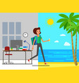 concept vacation vector image