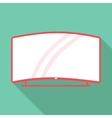Curved TV icon flat style vector image