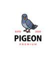 cute pigeon cartoon logo icon vector image vector image