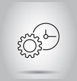 document icon on isolated background business vector image