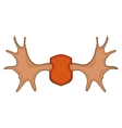 Elk horns icon cartoon style vector image