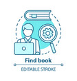 find book concept icon electronic search idea vector image vector image