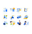 flat design concept icons collection vector image