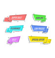flat linear promotion sticker scroll price tag vector image