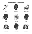 Flu influenza or grippe symptoms icons set vector image vector image