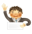 Funny worker for use in presentations etc vector image vector image