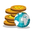 global economy design vector image vector image