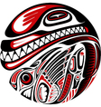haida style tattoo design vector image vector image