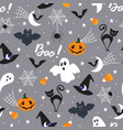 halloween pattern draft vector image vector image