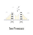 hand drawn golden gate bridge in san francisco vector image