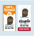 happy halloween invitation design with owl vector image