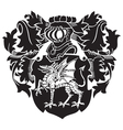 heraldic silhouette no26 vector image vector image