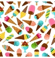Ice cream cones popsicles and sundae pattern vector image