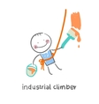 industrial climber vector image vector image