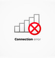 internet connection error icon vector image vector image