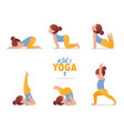 kids yoga set gymnastics for children vector image
