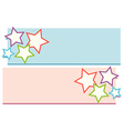 Lable design with stars vector image vector image