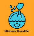 line icon of ultrasonic humidifier vector image