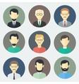 Male Faces Icons Set