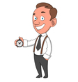 man with timer vector image vector image