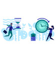 manage your time concept effective planning vector image vector image