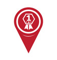 map pin pointer number 1 icon vector image