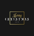 merry christmas phrase in frame luxury black and vector image vector image