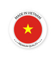 modern made in vietnam label vector image vector image