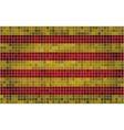 Mosaic Flag of Catalonia vector image vector image