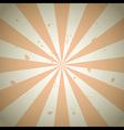 Orange Vintage Grunge Ray Background vector image vector image