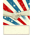 Patriotic design with handshake vector image