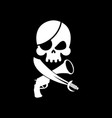 pirate flag skull black banner filibuster head vector image vector image