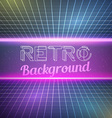 Retro Vintage 1980 Bright Neon Color Background vector image vector image